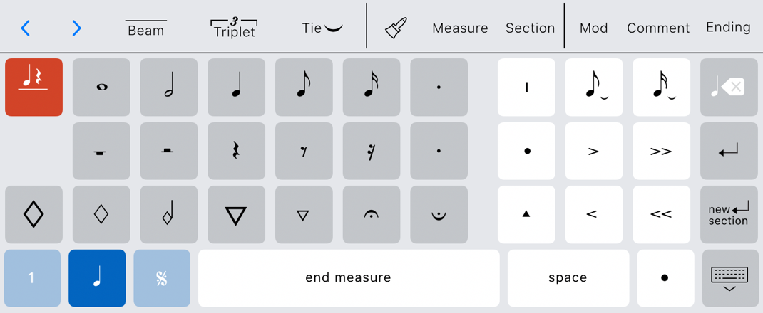 Rhythm placement toggle